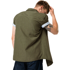Jack Wolfskin El Dorado SS Shirt Men dark moss checks